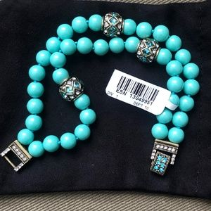 "HEIDI DAUS ""Staying in Line"" Bracelet TURQUOISE"